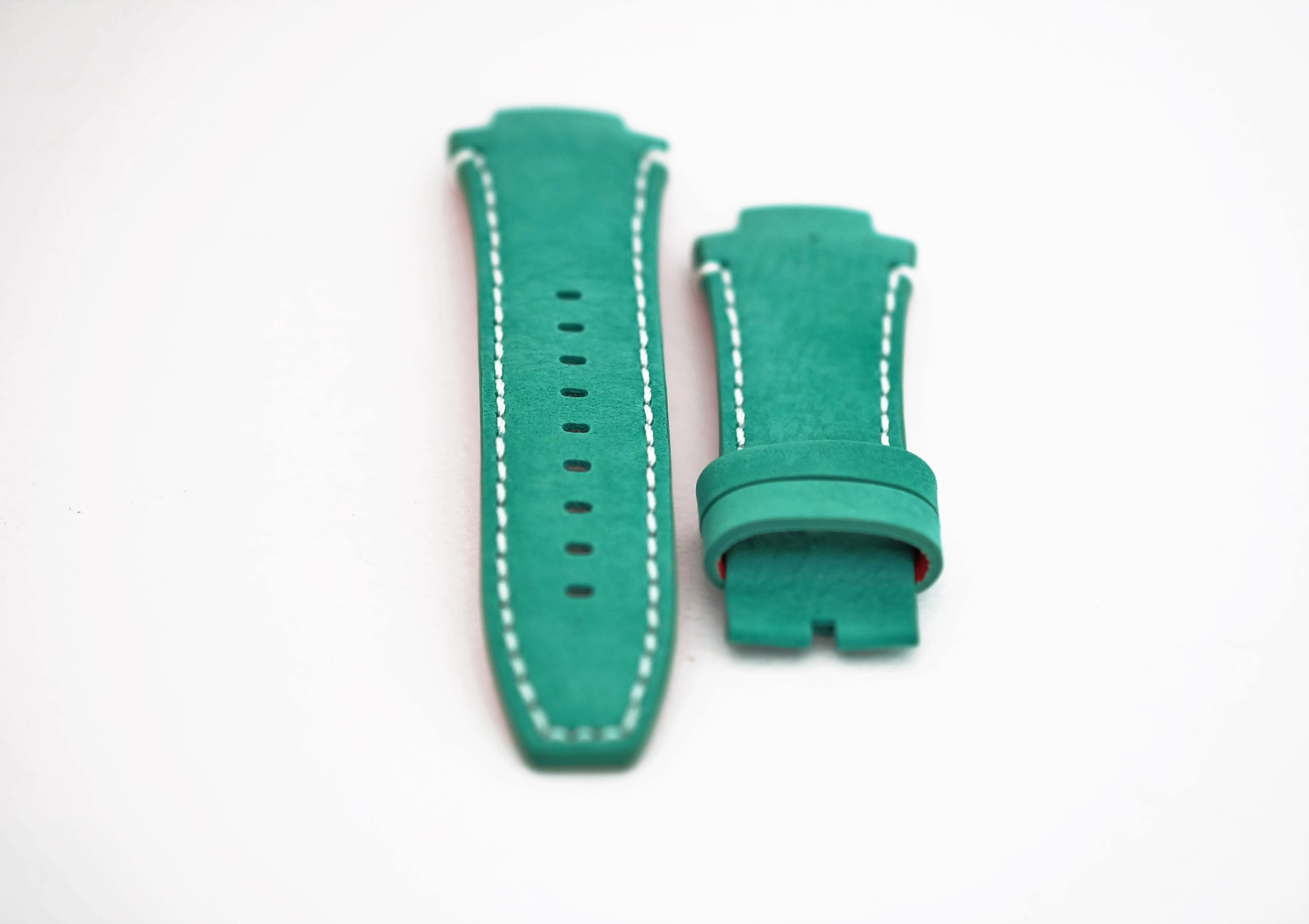 46-Green Nobuk Leather