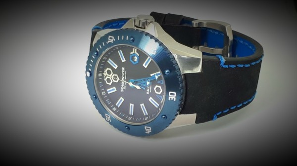 Stainless Steel,watches, seamonster, alessandro baldieri, man watch, 38mm, black dial, diving watch,
